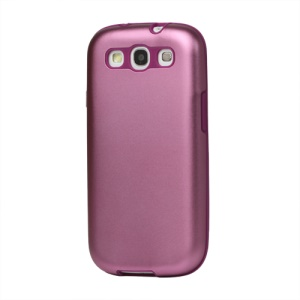 Aluminum Silicone Hybrid Case for Samsung Galaxy S 3 / III I9300 I747 L710 T999 I535 R530 - Pink