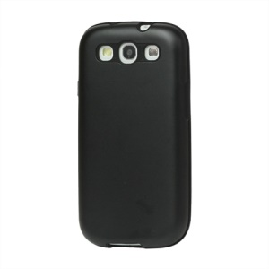Aluminum Silicone Hybrid Case for Samsung Galaxy S 3 / III I9300 I747 L710 T999 I535 R530 - Black