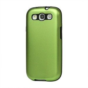 Aluminum Silicone Hybrid Case for Samsung Galaxy S 3 / III I9300 I747 L710 T999 I535 R530 - Green
