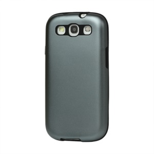 Aluminum Silicone Hybrid Case for Samsung Galaxy S 3 / III I9300 I747 L710 T999 I535 R530 - Grey