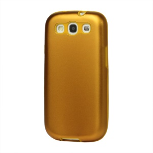 Aluminum Silicone Hybrid Case for Samsung Galaxy S 3 / III I9300 I747 L710 T999 I535 R530 - Yellow