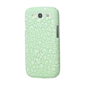 Snow Flake Rubberized Hard Case for Samsung Galaxy S 3 / III I9300 I747 L710 T999 I535 R530 - Green
