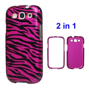 Snap-on Zebra Hard Case for Samsung Galaxy S 3 / III I9300 I747 L710 T999 I535 R530 - Rose