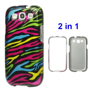 Snap-on Zebra Hard Case for Samsung Galaxy S 3 / III I9300 I747 L710 T999 I535 R530 - Colorful