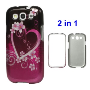 Big Heart Snap on Hard Cover for Samsung Galaxy S 3 / III I9300 I747 L710 T999 I535 R530