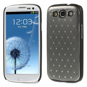 Starry Sky Rhinestone PC Hard Cover for Samsung Galaxy S3 Neo I9300I I9301I / Galaxy S3 I9300 - Gray