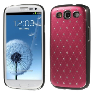 Starry Sky Rhinestone PC Hard Shell for Samsung Galaxy S3 Neo I9300I I9301I / Galaxy S3 I9300 - Red