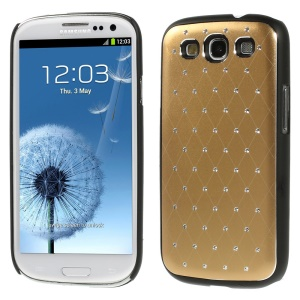 Starry Sky Rhinestone PC Back Case for Samsung Galaxy S3 Neo I9300I I9301I / Galaxy S3 I9300 - Gold