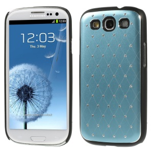 Starry Sky Rhinestone Plastic Cover for Samsung Galaxy S3 Neo I9300I I9301I / Galaxy S3 I9300 - Light Blue