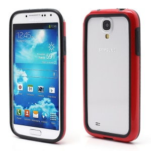 TPU & Plastic Hybrid Bumper Frame Case for Samsung Galaxy S 4 i9500 i9505 - Black / Red