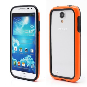 TPU & Plastic Hybrid Bumper Frame Case for Samsung Galaxy S 4 SIV i9500 i9505 - Black / Orange
