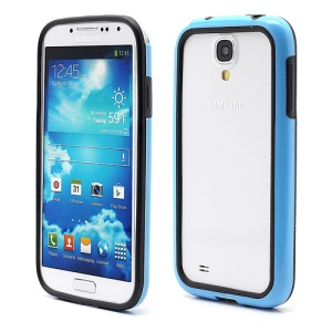 TPU & Plastic Bumper Frame Case for Samsung Galaxy S 4 IV i9500 i9505 - Black / Blue
