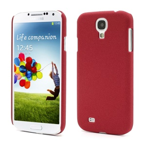 Quicksand Hard Plastic Case Shell for Samsung Galaxy S4 i9500 i9505 - Red