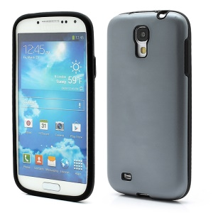 Smooth Aluminum and Silicone Hybrid Hard Case for Samsung Galaxy S4 IV i9500 i9505 - Grey