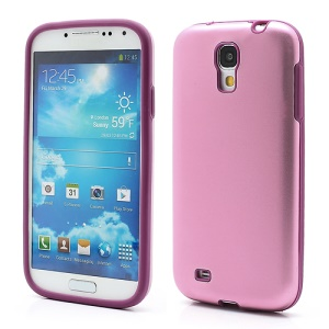 Smooth Aluminum and Silicone Hybrid Hard Case for Samsung Galaxy S4 IV i9500 i9505 - Pink