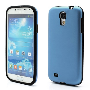 Smooth Aluminum and Silicone Hybrid Hard Case for Samsung Galaxy S4 IV i9500 i9505 - Dark Blue