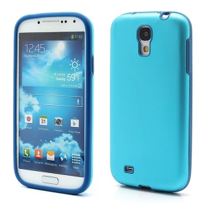 Smooth Aluminum and Silicone Hybrid Hard Case for Samsung Galaxy S4 IV i9500 i9505 - Light Blue