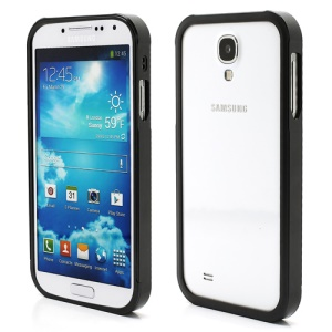 Aluminum Metal Slide-On Frame Bumper Case for Samsung Galaxy S IV S 4 i9500 i9502 i9505 - Black