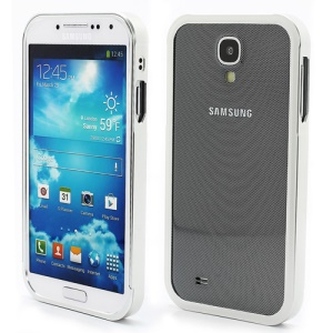 Aluminum Metal Slide-On Frame Bumper Case for Samsung Galaxy S IV S 4 i9500 i9502 i9505 - Silver
