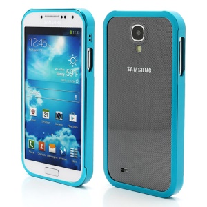Aluminum Metal Slide-On Frame Bumper Case for Samsung Galaxy S IV S 4 i9500 i9502 i9505 - Light Blue