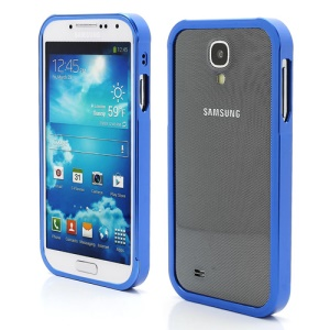 Aluminum Metal Slide-On Frame Bumper Case for Samsung Galaxy S IV S 4 i9500 i9502 i9505 - Dark Blue