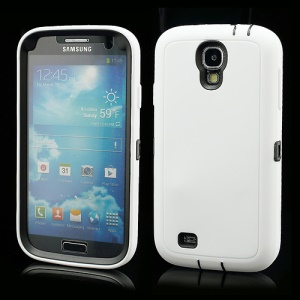 3 in 1 Silicone & Plastic Robot Combo Case for Samsung Galaxy S 4 IV i9500 i9502 i9505 - White