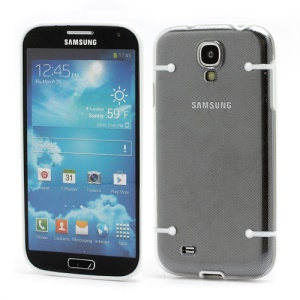 Crystal PC Hard Cover + Noctilucent TPU Frame Hybrid Case for Samsung Galaxy S IV S4 i9500 i9502 i9505 - White
