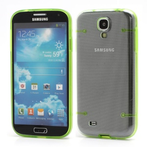 Crystal PC Hard Cover + Noctilucent TPU Frame Hybrid Case for Samsung Galaxy S IV S4 i9500 i9502 i9505 - Green