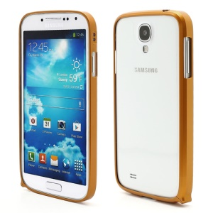 Slim Premium Aluminium Metal Bumper Case for Samsung Galaxy S4 i9500 i9502 i9505 - Golden Yellow
