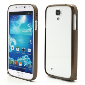 Slim Premium Aluminium Metal Bumper Case for Samsung Galaxy S4 i9500 i9502 i9505 - Brown