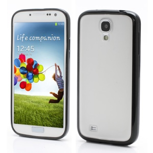 Matte Translucent Plastic & TPU Hybrid Case for Samsung Galaxy S 4 SIV i9500 i9505 - Black