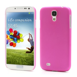Ultra Thin Frosted Plastic Case for Samsung Galaxy S IV S4 i9500 i9505 - Rose