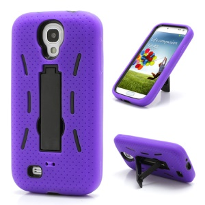Strong Defender Case Cover w/ Kickstand for Samsung Galaxy S IV 4 i9500 i9505 - Black / Purple