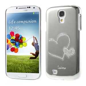 Silver Eileen Heart Lime Plated Rhinestone Case for Samsung Galaxy S4 i9500
