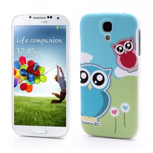 Cute Owl Print Hard Case Shell for Samsung Galaxy S 4 SIV i9500 i9505