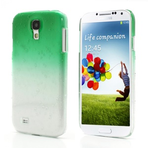 Gradient Color Raindrop Plastic Cover for Samsung Galaxy S IV S4 i9500 i9505 - Green