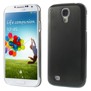 Black Durable Brushed & Electroplated Metal Case Cover for Samsung Galaxy S4 I9505 I9500 I9502