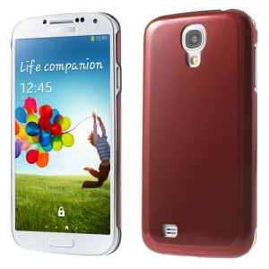 Red Durable Brushed & Electroplated Metal Hard Case for Samsung Galaxy S4 I9505