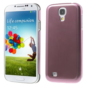 Pink Durable Brushed & Electroplated Metal Hard Case for Samsung Galaxy S4 I9500