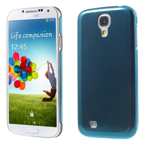 Blue Durable Brushed & Electroplated Metal Hard Cover for Samsung Galaxy S IV I9502