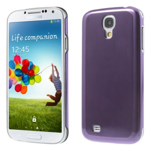 Purple Durable Brushed & Electroplated Metal Hard Shell for Samsung Galaxy S IV I9502 i9500