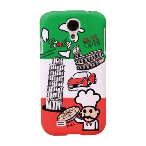 Umku Italy Leaning Tower & Pizza Hard Back Case for Samsung Galaxy S4 I9505
