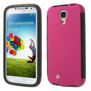 2 in 1 Hybrid PC + TPU Protector Case for Samsung Galaxy S4 I9505 I9502 w/ Built-in Screen Protector - Rose