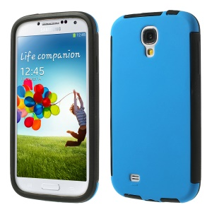 2 in 1 Hybrid PC + TPU Shield Case for Samsung Galaxy S4 I9500 I9505 w/ Built-in Screen Protector - Blue