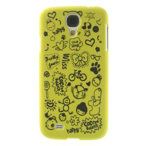 Cartoon Graffiti Matte Plastic Back Case for Samsung Galaxy S4 i9502 - Green