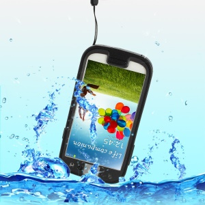 Black Waterproof Shockproof Dirt-proof Snow-proof Case for Samsung Galaxy S4 I9500 I9502 I9505