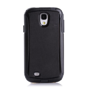 Shockproof Dirt-proof PC + TPU Combo Protective Cover for Samsung Galaxy S4 I9500 I9502 I9505 - Black