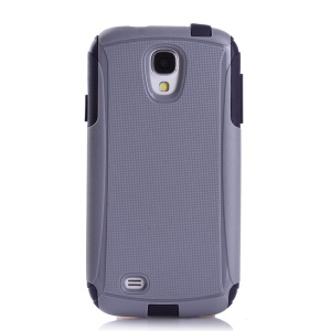 Shockproof Dirt-proof Hybrid PC + TPU Protector Case for Samsung Galaxy S4 I9500 - Black / Grey
