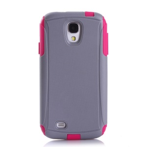Shockproof Dirt-proof Hybrid PC + TPU Protector Shell for Samsung Galaxy S4 I9500 - Rose / Grey