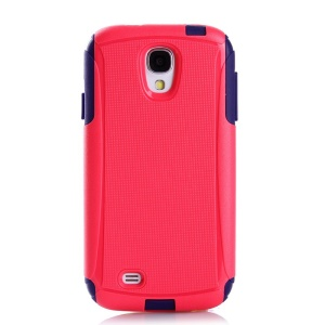Shockproof Dirt-proof PC + TPU Hybrid Phone Cover for Samsung Galaxy S4 I9502 - Red